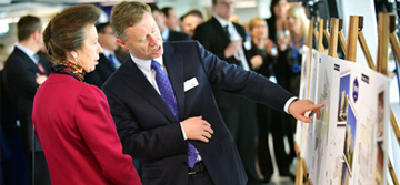 HRH The Princess Royal visits departure lounge extension
