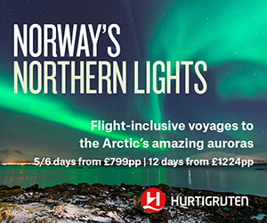 Go in search of the Northern Lights from Bristol from £799pp