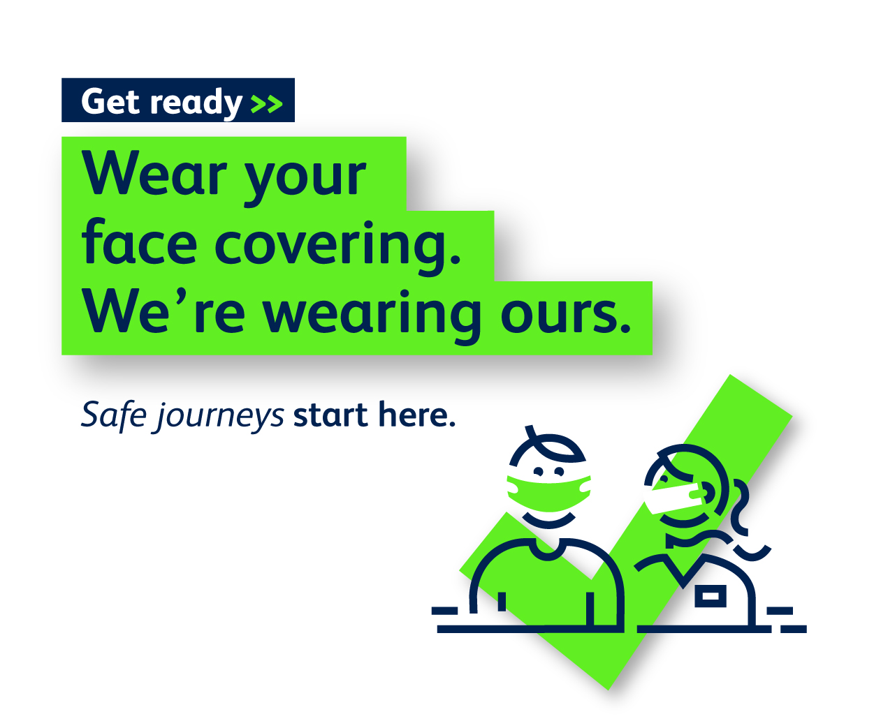 Wear your face covering at Bristol Airport