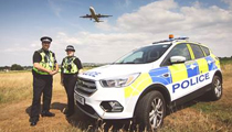 Police at Bristol Airport