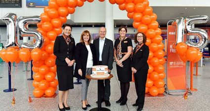 easyJet celebrates 15 years based in Bristol
