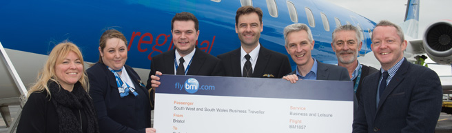 bmi's new Bristol to Gothenburg route takes off