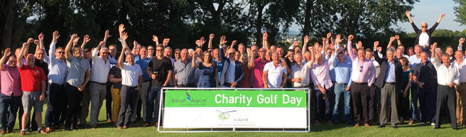 Bristol Airport colleagues raise over £10,000 for local air ambulance with Charity Golf Day