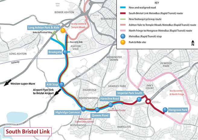 South Bristol Link Map