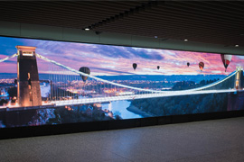 Digital Wall at Bristol Airport