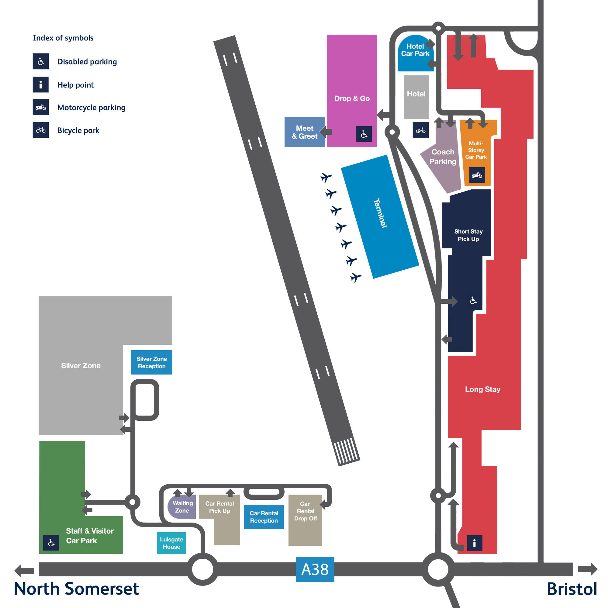 Bristol Airport Car Park Map
