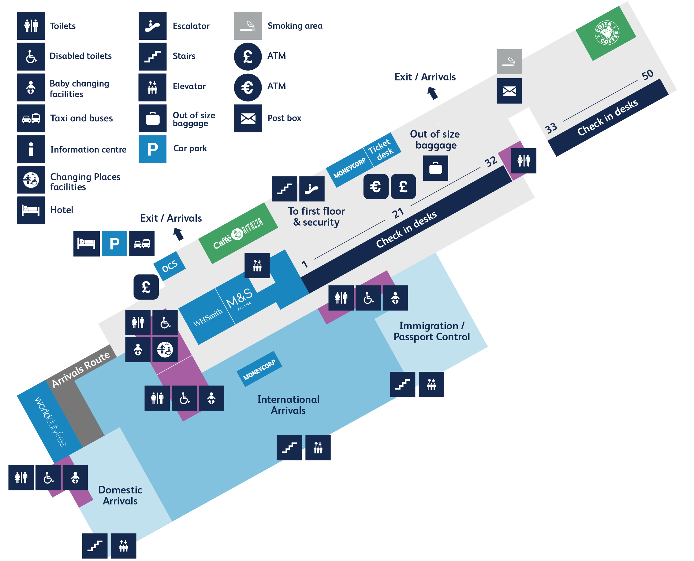 Bristol Airport Ground Floor Map